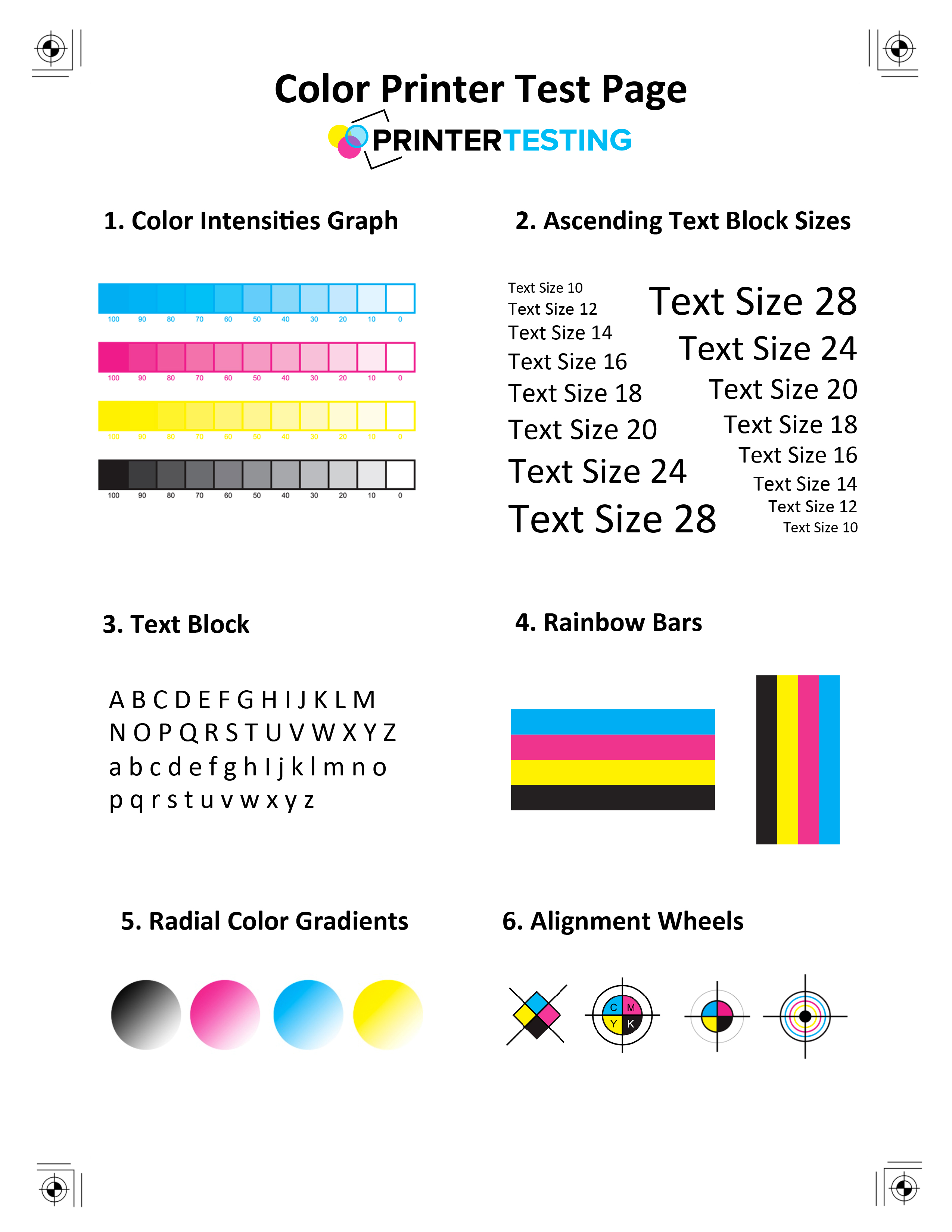 Color Printer test page